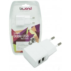 Cargador Doble USB 2A-1A Biwond