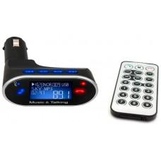 Reproductor MP3 USB/MicroSD + Transmisor FM Coche