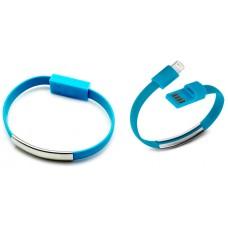 Pulsera Cable Carga/Datos Lightning Azul