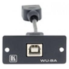 Kramer Electronics Wall Plate Insert - USB (B/A) caja de tomacorriente Negro (Espera 4 dias)