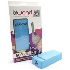 Power Bank 5600mAh Azul Biwond