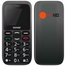 """TELEFONO SENIOR DENVER GSM900/1800 TFT 1.77"""" BOTON SOS NEGRO"""