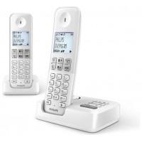 TELEFONO PHILIPS DUO D2552 DUO BLANCO CONTESTADOR (Espera 4 dias)
