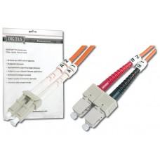 CABLE CONEXION FIBRA OPTICA DIGITUS MM OM2 LC a SC 50/125 1m