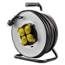 Enrollador de Cable PRO 25 Metros Cable 3X2.5MM Tambor Fijo ELBAT (Espera 2 dias)