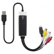 CAPTURADORA DE VIDEO EWENT EW3706 USB2.0 RCA/SVHS