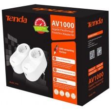 TENDA KIT POWERLINE AV1000 1000MBPS,  ETHERNET, ENCHUFE AC (PH6)
