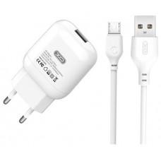 Pack Cargador Corriente L37 2.1A + Cable Micro USB XO (Espera 2 dias)